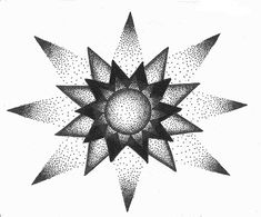 stippled star design by Jamie-Ventura.dev… on deviantART stippled star design by Jamie-Ventura. Dotwork Tattoo Mandala, Mandala Tattoo Design, Mandala Drawing, Tattoo Designs, Dotted Drawings, Easy Drawings, Doodle Drawings, Maori Tattoo Frau, Stippling Art