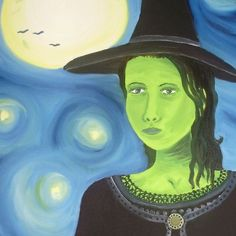 Hey, I found this really awesome Etsy listing at https://www.etsy.com/listing/55693838/elphaba-original-oil-painting