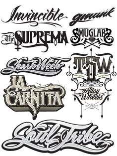 Invincible Type Treatments by Joshua M. Smith, via Behance