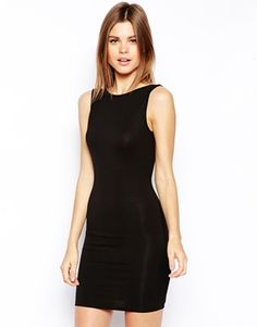 Image 2 of ASOS Embellished Scoop Back Body-Conscious
