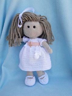 Watch This Video Incredible Crochet a Bear Ideas. Cutest Crochet a Bear Ideas. Crochet Fairy, Crochet Cap, Crochet Girls, Cute Crochet, Beautiful Crochet, Crochet Doll Clothes, Knitted Dolls, Crochet Amigurumi Free Patterns, Crochet Gratis