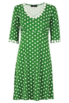 214b80b56228 Yvonne dress dot green - Kjoler - Tøj – MANIA Copenhagen