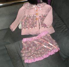 Ropa de Bebés Mary: conjunto de abrigo con falda corta para niña de 18...