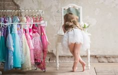 All About Me 5 year old session ballerina dress up  chubby cheek photography