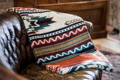 An Ecuadane Southwestern/Native American style blanket is the perfect addition to the home. This large, cozy and soft blanket will allow for the whole family to spend time together. Camping Pillows, Camping Blanket, Southwestern Blankets, Southwestern Style, Rustic Colors, Textiles, Comfy Blankets, Native American Fashion, Boho