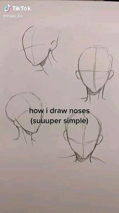 Art Drawings Sketches Simple, Pencil Art Drawings, Cool Drawings, Nose Drawing, Drawing Tips, Digital Art Anime, Digital Art Tutorial, Cartoon Art Styles, Art Reference Poses
