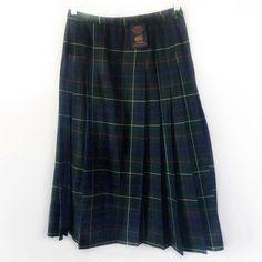 10f5a072 (eBay Ad) Vintage Pendleton Skirt Signature Tartan Schoolgirl Modest Virgin  Wool USA Sz 10