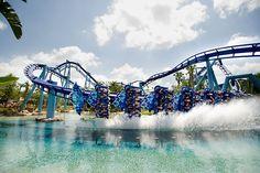 Manta Flying Roller Coaster in Sea World Orlando, Florida Seaworld Orlando, Discovery Island, San Diego, San Francisco, Sea World, Australia Tourism, Airlie Beach, Journey, Tours