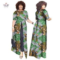 Image of African Dashiki Straight Split Printing Long Dresses African Fashion Designers, African Men Fashion, Africa Fashion, African Dresses Online, African Wear Dresses, Traditional African Clothing, Traditional Outfits, African Dashiki, Fancy Tops