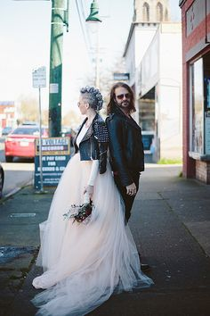 rock and roll wedding photography