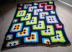Tricot o crochet: {Otro desafío: una manta!}