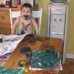 Happy Finger Painter!