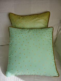 Dot gold pillows