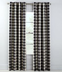Buffalo Check Grommet Top Curtains