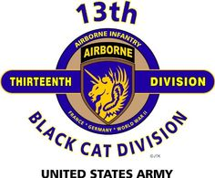 "13TH AIRBORNE DIVISION * BLACK CAT * U.S. MILITARY CAMPAIGNS LAMINATED PRINT ON 18"" x 24"" QUARTER INCH THICK POSTER BOARD 13TH AIRBORNE DIVISION,http://www.amazon.com/dp/B00BLNEIWG/ref=cm_sw_r_pi_dp_ODsesb05WYDD4W6N"