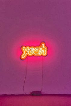 Yeah Lights | Neon Light Up Sign | Hanging Wall Art | Typography | Colorful & Bright