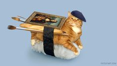 Багет, берет и суши-кот — Мяуза великих художников