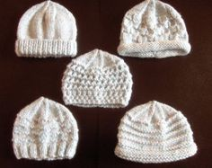 Premature Small Baby Knitting Pattern For 5 Hats