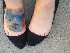 """Impresión, sol naciente"", de Claude Monet. 41 tatuajes increíbles inspirados en obras de arte tattoo inspired by artwork"