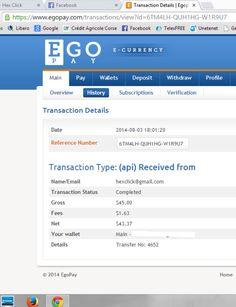 Prove di pagamento /proff of payment