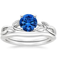 18K+White+Gold+Sapphire+Budding+Willow+Matched+Set+from+Brilliant+Earth