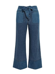 For today's product pick, we're loving the J.Crew Gaffney Linen-Blend Chambray and Denim Wide-Leg Pants!