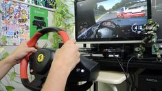 [14] Xbox One Forza 6  Thrustmaster Ferrari 458 Spider Racing Wheel Game...