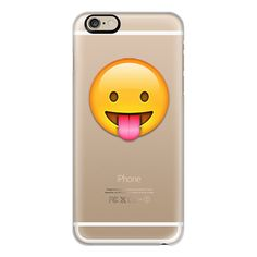 iPhone 6 Plus/6/5/5s/5c Case - Emoji tongue out ($40) ❤ liked on Polyvore featuring accessories, tech accessories, iphone case, iphone cover case, apple iphone cases and slim iphone case