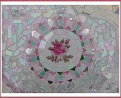 Mosaic Half Table Closeup Focal ~by Sondra, Traders of the Lost Art 1