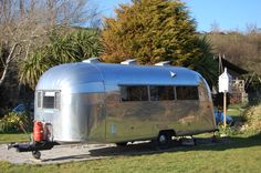 Airstream Rental Cornwall - nice sunny spot!
