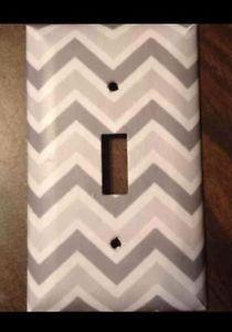 Christmas Gift Gray White Chevron Light Switch Cover Free Shipping   eBay