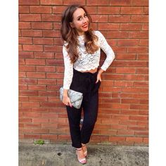 Ready for an evening out on this gorgeous sunshine!  Wearing #h&m, #topshop, #zara #primark Head over to www.lovethirty.co.uk for more details    #fashion #trousers #bag #shoes #heels #highheels #top #night #girl #beautiful #happy #love #cute