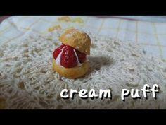 ▶ スイーツデコ*シュークリーム 作ってみた/DecoSweets*cream puff in clay Tutorial - YouTube