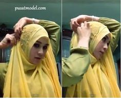 Hijab Paris ala Zaskia Mecca Yang Menutupi Dada | Pusat Model