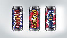 Cosmic Energy Drink by mei linn chan, via Behance PD
