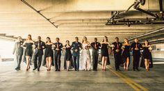 Jordan & Xavier | Wedding in Tampa Bay | Red and White Rose Bouquet. #andrealaynefloraldesign #tampaweddings