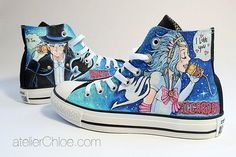Painted converse shoes anime shoes manga sneakers anime art