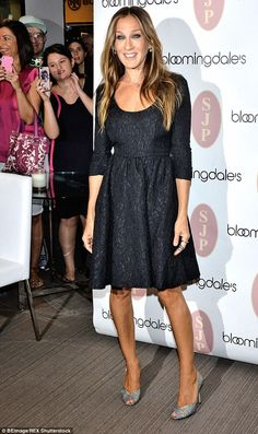 Natural beauty: Parker has become a style and fashion icon in the years since being sent the treadmill. She's pictured at launch of her SJP Collection of designer shoes at Bloomingdale's in New York last Saturday