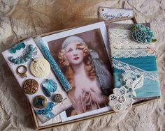 Aqua Turquoise Embellishment Inspiration Kit 41 by GypsyFeather,