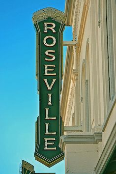 Historic Roseville California - #photography #urbanphoto #streetphotography Card: $7.00