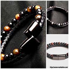 Make A Gift, Metal Bracelets, Box Chain, Shape Patterns, Stone Beads, Types Of Metal, Mens Fashion, Fashion Beauty, Natural Stones