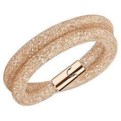 Swarovski Stardust Rose Gold Double Bracelet M