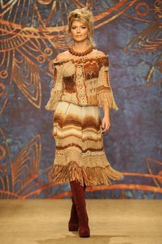 Hand knitted wool dress
