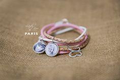 Bransoletka ze zdjęciami LadyBee skórzana Paris #biżuteria #handmade #bizuteriazezdjeciem #biżuteriazezdjęciami #pomysłnaprezent #prezentdlaniej #ladybee #dlakobiet