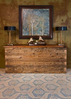 Tips & Tricks: Using Symmetry for Balance: Entry Way Western Furniture, Large Furniture, Rustic Furniture, Cool Furniture, Modern Furniture, Luxury Furniture Stores, Rustic Home Interiors, Decorating Blogs, Modern Rustic