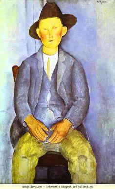 Amedeo Modigliani. The Little Peasant. Olga's Gallery.