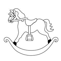 69 Awesome baby rocking horse clipart