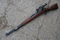 Deactivated Mauser Sniper Rifle - the infamous fitted with various scope configerations - Check this page for Deactivated Kar 98 Mauser Sniper Rifle! Airborne Ranger, Ww2 Weapons, Snipers, Guns And Ammo, Rifles, Tactical Gear, Shotgun, Airsoft, Firearms