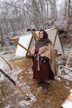 viking kit for winter: Skjoldehamn trousers and hood, classical tunics, wolen shawl. warm!