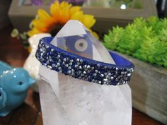 New Rustic Royal Blue & Silver Austrian Crystal Royal Blue Leather Cuff Bracelet | Jewelry & Watches, Fashion Jewelry, Bracelets | eBay!